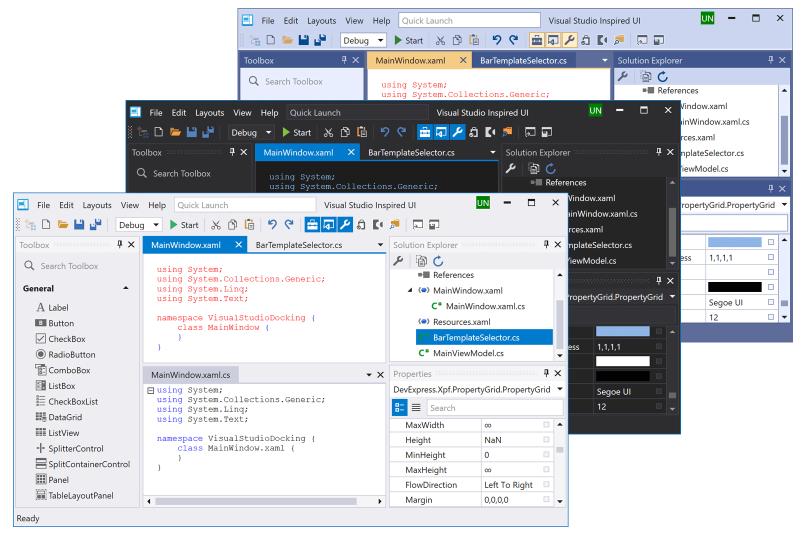 DevExpress WPF使用技巧教程:Visual Studio 2019主题和新的默认主题